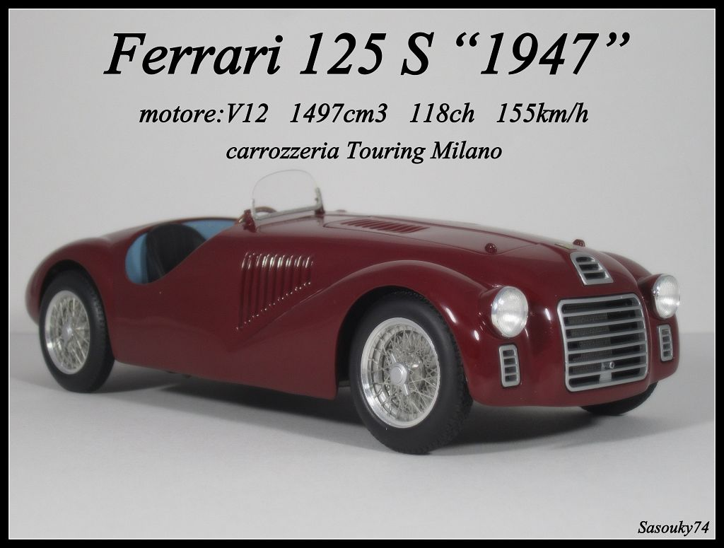 spirit modelcar afficher le sujet ferrari 125 s 1947 by hot wheels elite. Black Bedroom Furniture Sets. Home Design Ideas