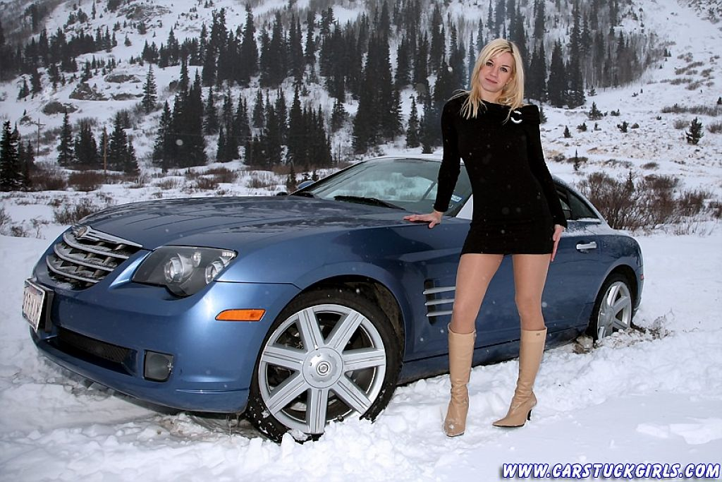 Image result for girl car stuck in snow